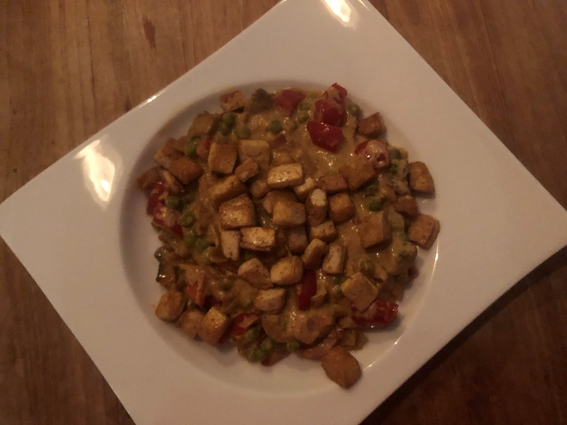 Indiase groenten met tofu